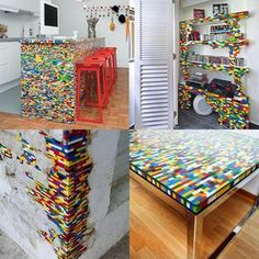 Para colorir seus móveis com Lego;