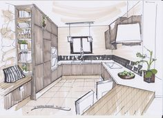 Интерьер sketch on Pinterest  Interior Sketch, Interior ...