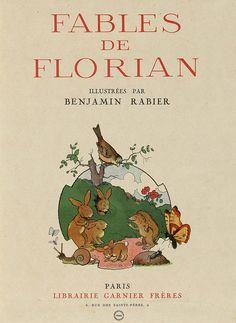 Fables de Florian illustrees par Benjamin Rabier, 1936 (title page)  Hedgehog