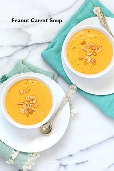 Vegan Carrot Peanut Soup | Vegan Richa