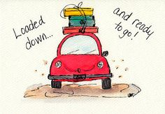 Loaded up and ready to go! / Blue Chair Diary Illustrations