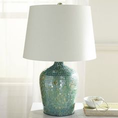 Oceans Turquoise Mosaic Table Lamp