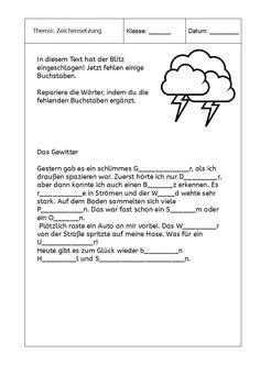 Eulenpost - Lückentext zu Wortschatz: Wetter