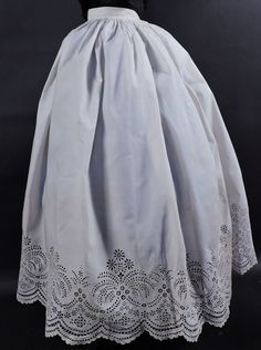 EXCEPTIONAL CIVIL WAR ERA HAND SEWN SKIRT W RICH EYELET SWEEP in Clothing, Shoes & Accessories, Vintage, Women's Vintage Clothing, Pre-1901 (Victorian & Older)   eBay