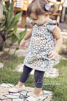 Cute dress or long top for a little girl.