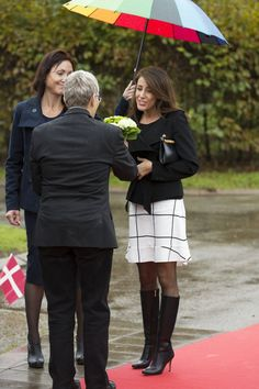 Princess Marie came to Hinnerup, a small town in Jutland, to open new home facilities for elderly people with autism 14 October 2014