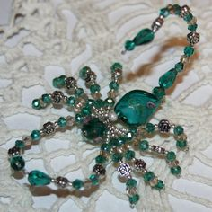 BEAUTIFUL~Decorative Swarovski & Austrian Crystal Beaded Scorpion~ NEW~Handmade