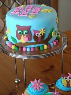 Resultado de imagen para decoracion de tortas con lechuzas
