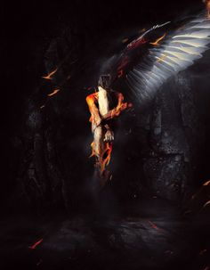 14-photoshop-tutorials-2013 'Fallen Angel'