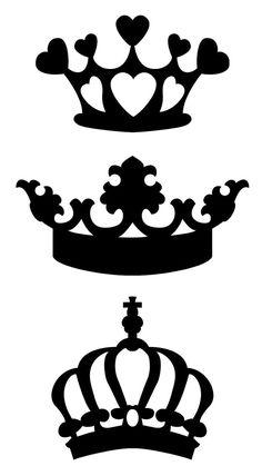 Resultado de imagen para corona princesa silueta