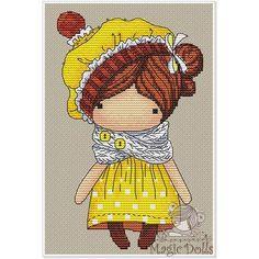 #mika__mila_katya #crossstitch #cross #cross_stitch #stitch #stitches #вышивка #вышивкакрестом #схемавышивки #magic__dolls @magic__dolls Lemon/Лимончик 59*96 stitch, DMC 19 color, 3 blends, 1 color beads Cross stitch, backstitch, french knot