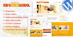Kid's Voice School is a beautifully designed Wordpress Theme for your child school, child care, but it would suit for any children, art, craft or creative website.  Features  Responsive Powerful Ad...