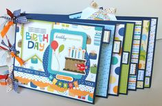 beach mini albums | Scrapbook Kit Mini Album 'Birthday Boy' by ArtsyAlbums on…