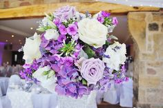 Gorgeous flowers on the tables