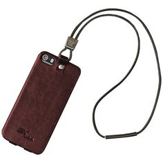 iPhone 5/5s Leather Retention Case (Red)