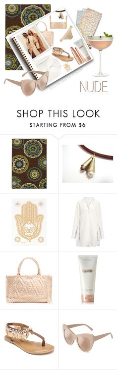 """""""Nude Bathing Suit"""" by onenakedewe ❤ liked on Polyvore featuring Home Decorators Collection, Joseph, Antonello Tedde, La Mer, Penny Loves Kenny, Crate and Barrel and nudeswimwear"""