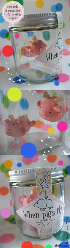 When pigs fly... The cutest idea that I wish I'd thought of! We have to make this!!!!