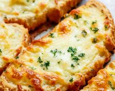 Want just one piece of garlic bread? Individual Garlic Cheese Breads are quick to make and can be served with just about anything! Soups, pastas, steak and potatoes, stews, ANYTHING! | cafedelites.com