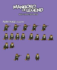 Manboro of Legend mobile running action game by 608 factory  #pixel #game #sprite #manboro