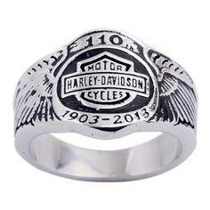 harley davidson 110th anvsry ring mens 11