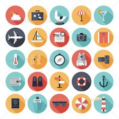 Illustration of Modern flat icons vector collection with long shadow effect in stylish colors of travel, tourism and vacation theme Isolated on white vector art, clipart and stock vectors. Web Icon Vector, Free Vector Art, Travel Icon, Travel Maps, Travel Tourism, Vacation Travel, Clipart, Icon Design, Web Design
