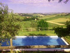 Il panorama dalla villa Gemma di Sant'Elena country house Morro d'Alba (Ancona)
