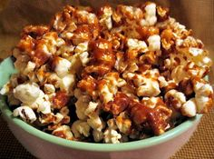 Harvest Caramel Corn from Food.com: This is caramel corn with an holiday twist! It's very addictive! I love making this and putting in small decorative bags and give as gifts to friends and teachers.