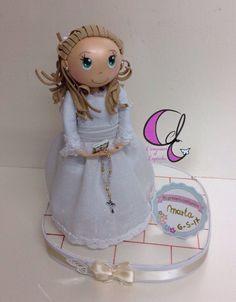 Creaciones el Capricho: Muñeca de comunión personalizada.