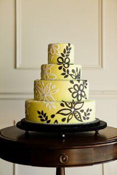 Yellow & Black Cake