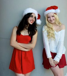 Merry Christmas with Dove Cameron and Sofia Carson ( her bff  )