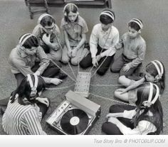 vintage music sharing. I remember doing this.........