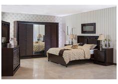 غرفة نوم عملية بلونها وتصميمها المريح تساعدك على ترتيب أغراضك كما تحبين  #غرف_نوم #عملي #تصميم #ترتيب #مفروشات #ميداس