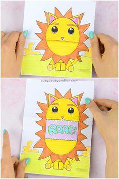 Surprise Big Mouth Lion Printable Fun Paper Craft for Kids