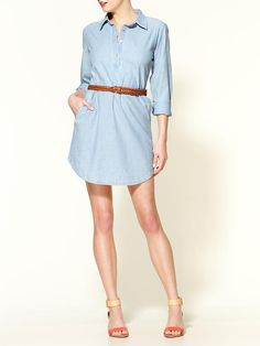 Pim + Larkin - Chambray Day Dress