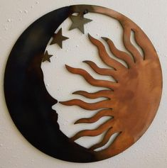 Sun Moon and Stars Relief