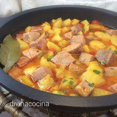 marmitako-cazuela Fish Recipes, Meat Recipes, Cooking Recipes, Healthy Recipes, Savoury Recipes, Spanish Dishes, Peruvian Recipes, Small Meals, Everyday Food