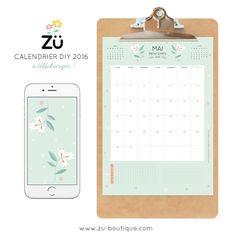 zü: Le calendrier DIY - MAI 2016