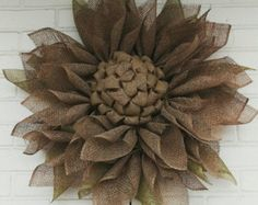 Burlap Wreath, Sunflower Wreath, Sunflower, Horse Wreath, Rustic Burlap Wreath    Now this is what Ill call UNIQUE custom made wreath  This NEW Horse wreath is fabulous , so cute, so rustic , so ...so....so...  Ribbons can be in any color. I take custom orders  Measure approx 22 inch tall and price is $ 69.00