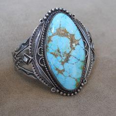 Early Navajo Bracelet with Large Stone | | Cayuse Western Americana