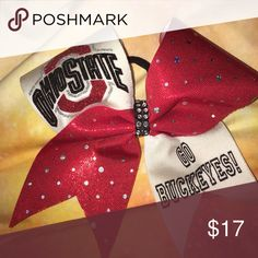 Ohio state buckeyes Ohio state buckeyes cheer bow! Price negotiable. Only worn once Accessories Hair Accessories