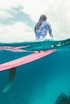 enjoy the clear, turquoise waters ||  shop the 'Surf Capsule Salty Dayz Long Sleeve Springsuit'