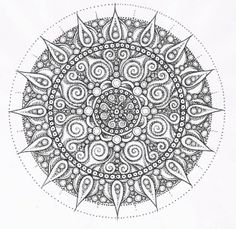 ☯☮ॐ American Hippie Color it Yourself ~ Mandala