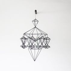 himmeli no. 8 / hanging mobile / modern geometric sculpture  via Shopmine, get product recommendations based on people you follow!