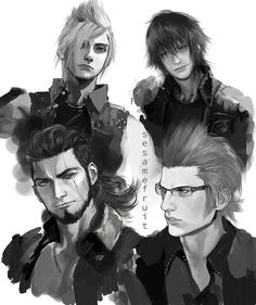 FFXV fan art made by ???? anyways, really nice!