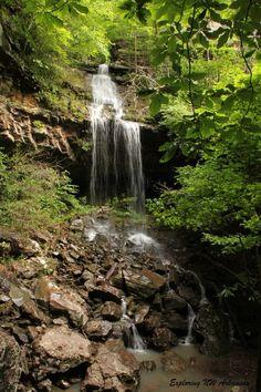 Deer Trail Falls - Big Piney Wilderness - via ExploringNWArkansas.com