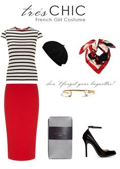A French Girl | Red scarves, French girls and Berets