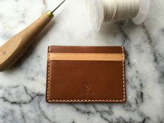 Slim Leather Wallet Handmade Leather Wallet Italian by RitsandRits