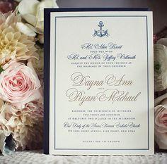Letterpress Invitation • Custom Wedding Invitation • Formal Wedding Invitation • Custom Design • Custom Wax Seal • Nautical Wedding Invitation • Wedding Invitation Design