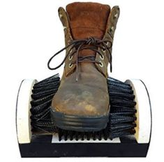 Buy Shoe Boot Cleaning Brush - Floor Mount Scraper - Commercial Grade With Permanent Mounting Hardware For Indoor / Outdoor Use, Kole, KoleImp. Scrub Shoes, Boot Brush, Clean Boots, Rolex Datejust, Cool Boots, Shoe Boot, Footwear, Cleaning, Floor