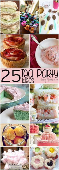 I love these 25 Tea Party Ideas for a little girl's birthday! So cute!